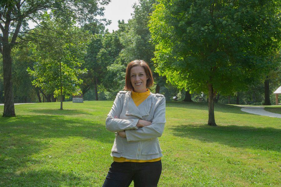 College+of+Psychiatry+professor+Ellen+Van+der+Plas+poses+for+a+portrait+at+Willow+Creek+Park+in+Iowa+City+on+Fiday%2C+Sept.+17%2C+2021.+