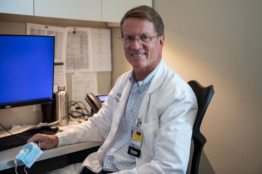 Dr. Brad Van Voorhis poses for a portrait at the University of Iowa Center for Advanced Reproductive Care in Iowa City on Thursday, Sept. 30, 2021. (Ayrton Breckenridge/The Daily Iowan)