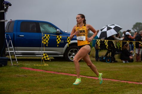 Iowa runner Gabby Skopec competes in the Hawkeye Invite meet at the Ashton Cross Country Course on Friday, Sept. 3, 2021.
