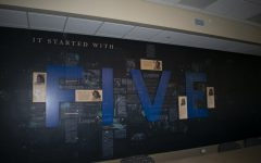 The new mural in the University of Iowa's Currier Residence Hall is seen on Sept. 2, 2021.