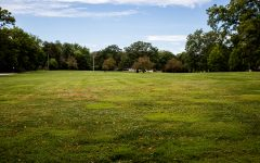 The University of Iowa Marching Band's old practice field is seen on Wednesday, Aug. 25, 2021.