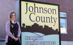 Johnson County Public Health Director Danielle Pettit-Majewski poses outside of Johnson County Public Health on Tuesday, Sept. 21, 2021.