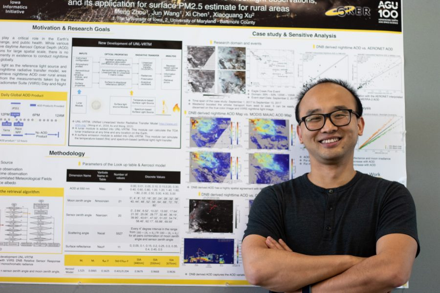 University+of+Iowa+graduate+research+assistant+Meng+Zhou+poses+in+front+of+his+research+Wednesday%2C+Sept.+15%2C+2021.+