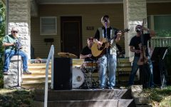 The Negotiators perform during the Sixth Annual Longfellow Front Porch Music Festival in Iowa City on Saturday, Sept. 25, 2021. The event took place Saturday afternoon with acts performing at various house fronts and times.