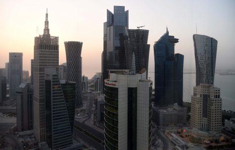 May 5, 2016; Doha, QATAR; General view of the downtown Doha skyline.