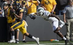 Iowa wide receiver Keagan Johnson hauls in a catch for a touchdown during a football game between Iowa and Colorado State at Kinnick Stadium on Saturday, Sept. 25, 2021. The Hawkeyes defeated the Rams 24-14.