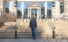 Associate Professor of Finance Ricard Peter stands in front of the Tippie College of Business by the Pappajohn Business Building on September 10, 2021.