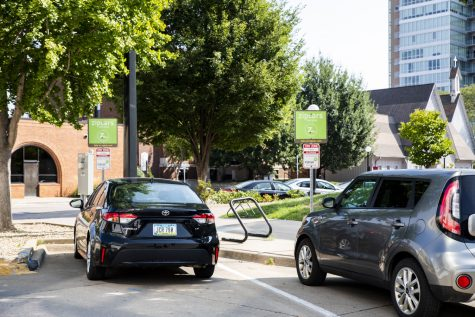 Zipcar's that are available on Monday, Aug. 30, 2021. Cars that are available can be found at the Zipcar parking spaces which are located at 200 S. Linn Street.
