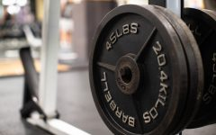 Weighted plates are seen at Fitness East Recreational Facility at the University of Iowa on Thursday, Oct. 14, 2021. (Gabby Drees/The Daily Iowan)