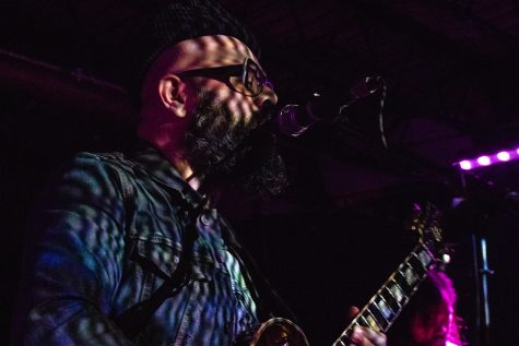 Here Lies Man performs at Gabes as part of the Witching Hour Festival on Friday, October 12, 2018. Former member of Afrobeat collective Antibalas, Marcos Garcia released his first project for Here Lies Man in 2017.