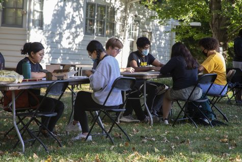 The University of Iowa's multicultural block party by Slater hall on Tuesday Oct. 12th from 5-8pm during homecoming week. The block party was hosted by the cultural centers. A few of the many activities included were henna, bracelets and origami.