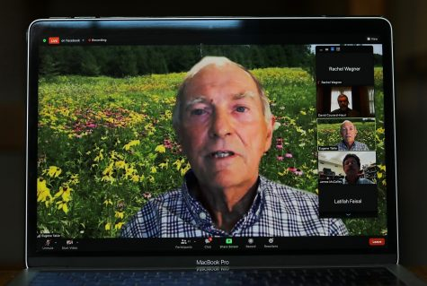 Dr. Eugene Takle, Director of the Climate Science Program at Iowa State University, speaks at the 2021 Climate Statement over zoom on Wednesday, Oct. 13, 2021.