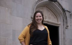 Portrait of Postdoctoral Research Scholar, Dr. Victoria Muller Ewald on Oct. 6, 2021.