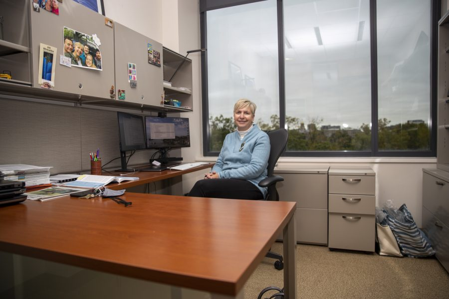 Director of the Healthier Workforce Center Diane Rohlman poses for a portrait on Thursday, Oct. 21, 2021. (Jerod Ringwald/The Daily Iowan)