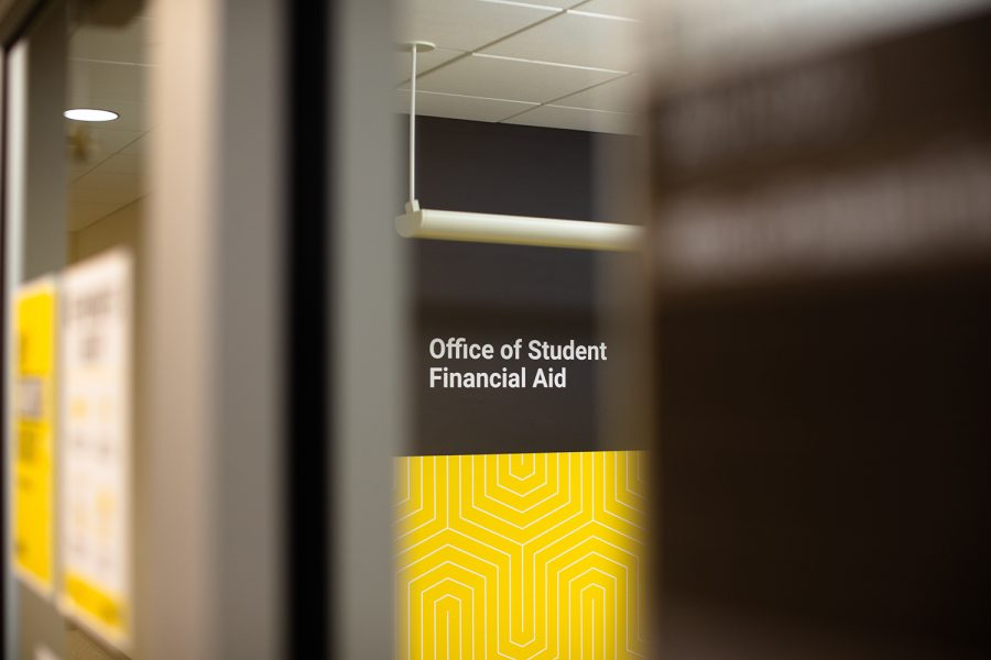 The University of Iowa Office of Student Financial Aid is seen at the Old Capitol Mall on Thursday, Oct. 14, 2021. (Gabby Drees/The Daily Iowan)