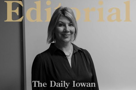 Megan Alter poses for a portrait in the Daily Iowan conference room on Oct. 7.