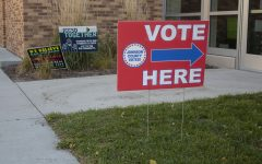 Pictured on Nov. 3, 2020, Election Day, is Longfellow Elementary School in Iowa City. Longfellow has set up voting booths for voters to cast their ballots. (Grace Smith/The Daily Iowan)