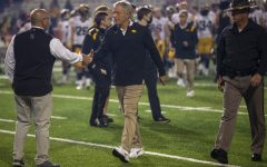Iowa head coach Kirk Ferentz walks off the field during a football game between Iowa and Maryland at Maryland Stadium on Friday, Oct. 1, 2021. The Hawkeyes defeated the Terrapins 51-14.