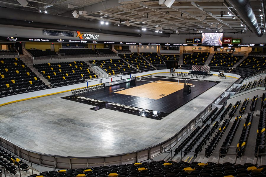 The main floor is seen during Xtream Arenas opening media tour in Coralville on Wednesday, Sept. 9, 2020.